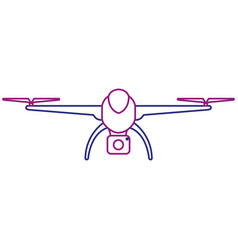 drone technology with camera vector image vector image
