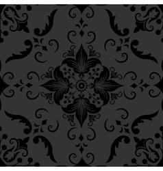 Elegant Floral Damask Pattern vector image
