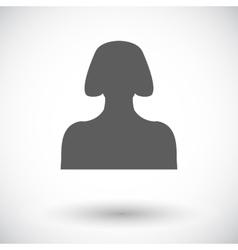 Female avatar flat single icon vector image