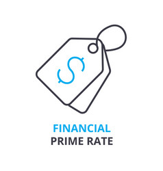 Financial prime rate concept outline icon vector