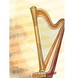 Harp vector image vector image