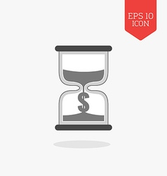 Hourglass with dollar sign icon time is money vector