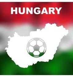Hungarian abstract map vector