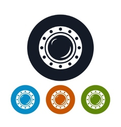 Icon porthole vector