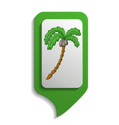 map sign palm tree icon cartoon style vector image vector image