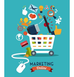 marketing online vector image