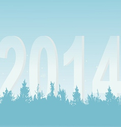 New years wood on a light background vector