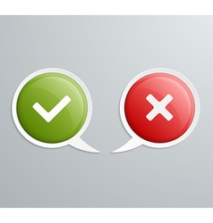 No and Yes Speech Icons vector image