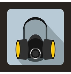 Respirator icon in flat style vector