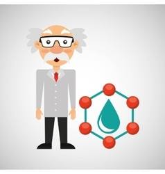 Scientist chemistry concept drop water vector