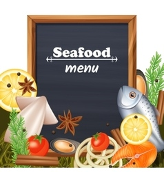 Seafood Menu Template vector image vector image