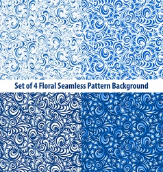 set Floral Backgrounds Gorgeous seamless floral vector image