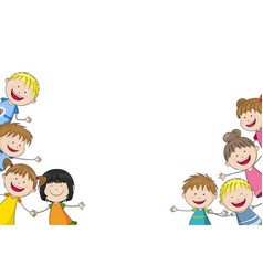 some funny children vector image