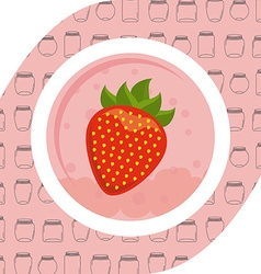 Strawberry fruit vector