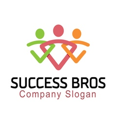 Succes bros design vector