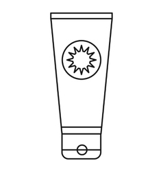 Sunscreen icon outline style vector