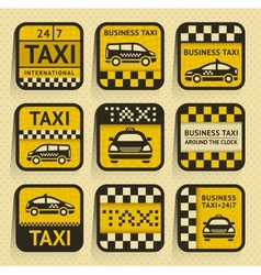 Taxi insignia old style vector image vector image