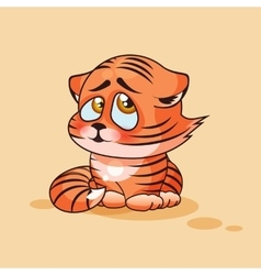 Tiger cub confused vector