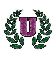 University icon with decorative wreath vector