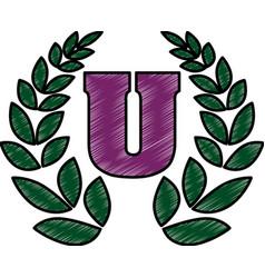 University icon with decorative wreath vector