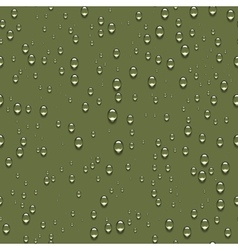 Water drops realistic seamless background vector image