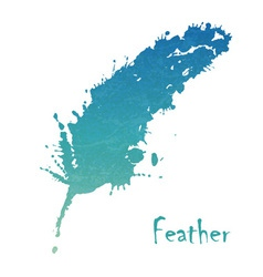 Watercolor feather background vector