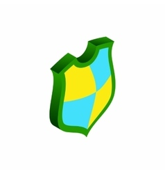 Protection shield concept icon isometric 3d style vector