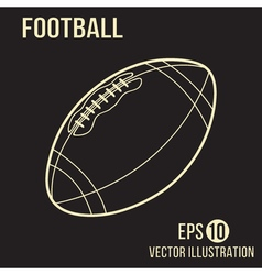 Football design on the brown background vector