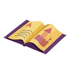 ABC book icon cartoon style vector image