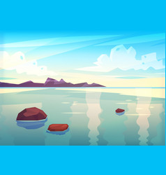 holidays by the sea view of the islands in the vector image