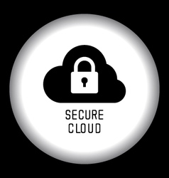 Secure cloud technology vector