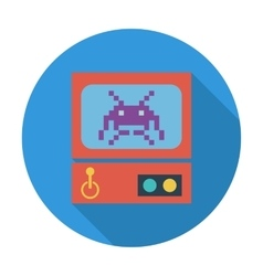 Retro arcade machine vector