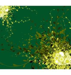 Spring grunge floral vector