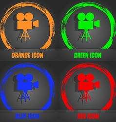 Video camera icon fashionable modern style in the vector
