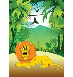 Cartoon lion vector