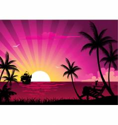 sunrise vector image