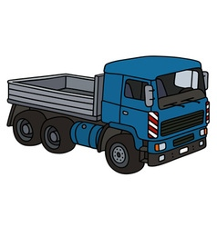 Blue lorry truck vector