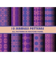 Set of geometric patterns for design vector