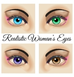 Realistic woman eyes vector