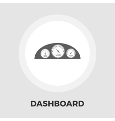 Dashboard flat icon vector