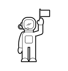 astronaut in space suit character profession vector image