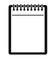 blank spiral notepad icon simple vector image vector image