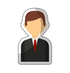 businessman avatar line icon vector image
