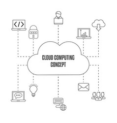 Cloud computing technology cloud computing vector