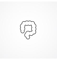 colon simple icon vector image vector image