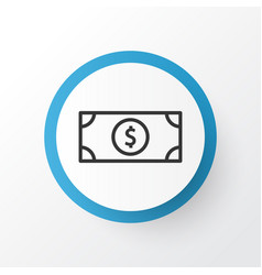 Dollar banknote icon symbol premium quality vector