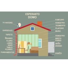 Esperanto the international language The manual vector image