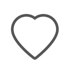 grayscale contour with heart icon vector image