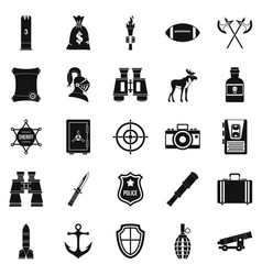 Guns icons set simple style vector