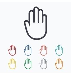 Hand sign icon No Entry or stop symbol vector image vector image